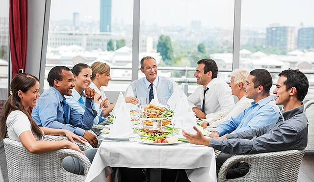 Business people attend lunch in Miami.jpg