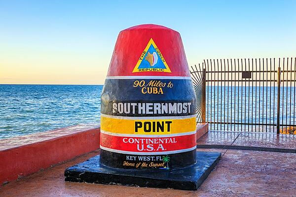 Most southern point monument in Key West