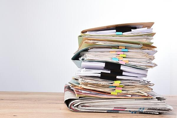 Stack of documents on table-1