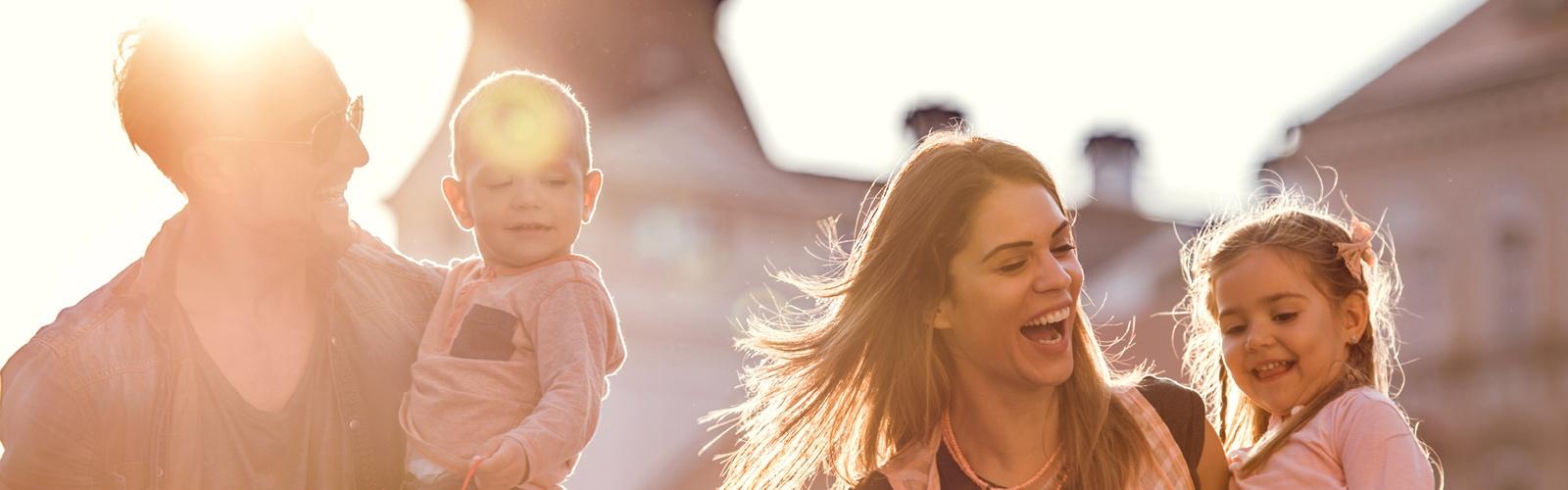 Background image - happy family