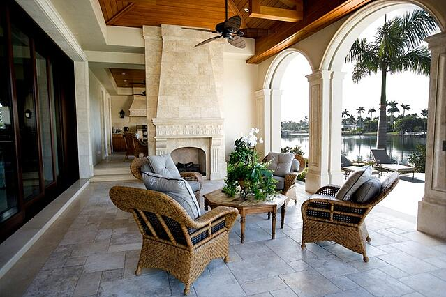 florida home with patio