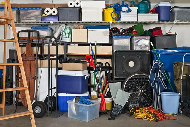 garage full of storage