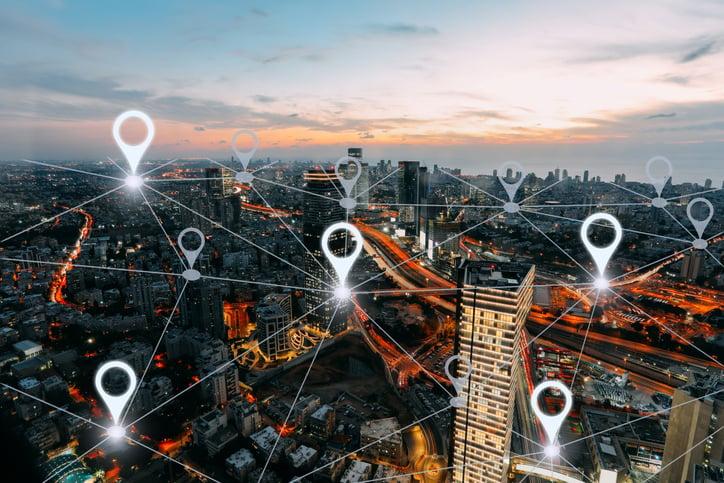 location map of credit unions around city