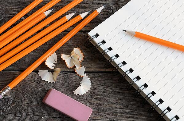 pencils and paper for back to school