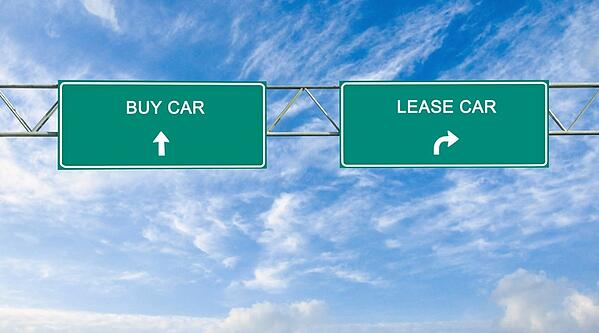 road signs that read buy or lease