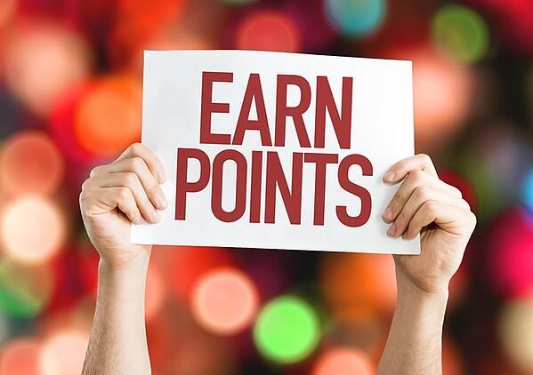 sign for credit card reading earn points