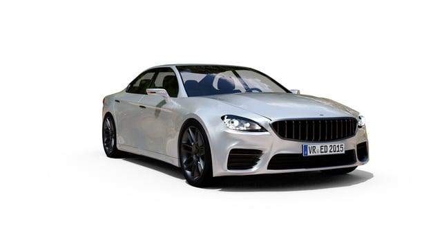 silver luxury sedan