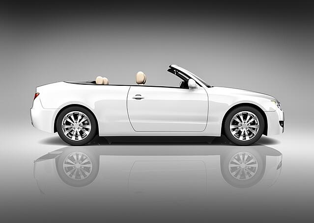 trendy white convertible