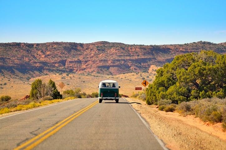Volkswagon van on roadtrip-1