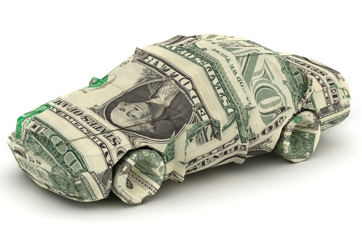 car made from dollar bills