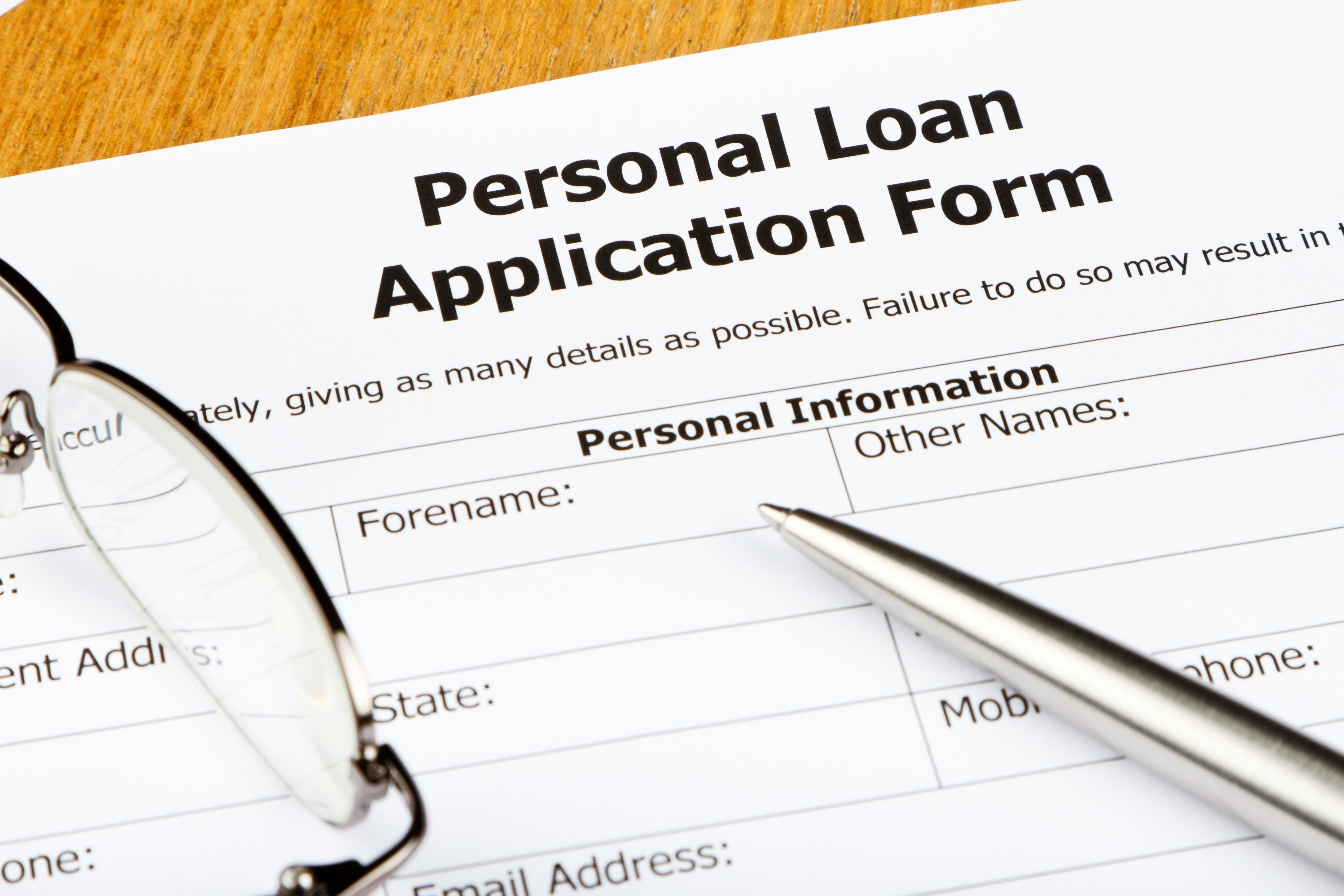 LETS GET PERSONAL... A PERSONAL LOAN THAT IS!